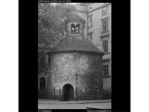 Kaple sv.Kříže (2244), Praha 1963 červen, černobílý obraz, stará fotografie, prodej