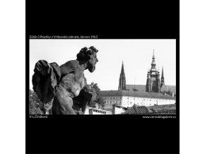 Plastiky z Vrtbovské zahrady (2268-3), Praha 1963 červen, černobílý obraz, stará fotografie, prodej