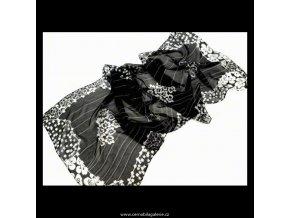 Šála chiffon černá