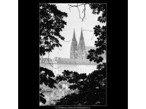 Pohled na Hrad (2302-3), Praha 1963 červenec, černobílý obraz, stará fotografie, prodej
