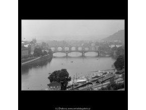 Mosty v mlze (2313), Praha 1963 , černobílý obraz, stará fotografie, prodej