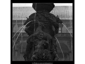 Zpívající fontána (2353-2), Praha 1963 červenec, černobílý obraz, stará fotografie, prodej