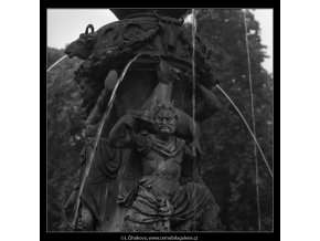 Zpívající fontána (2353-5), Praha 1963 červenec, černobílý obraz, stará fotografie, prodej
