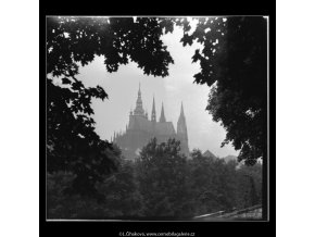Pohled na katedrálu sv.Víta (2356), Praha 1963 červen, černobílý obraz, stará fotografie, prodej