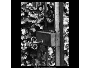 Zámek na dveřích (2394-2), Praha 1963 září, černobílý obraz, stará fotografie, prodej
