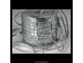 Stuha 3 lurex stříbro