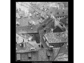 Střechy (2482-3), Praha 1963 září, černobílý obraz, stará fotografie, prodej