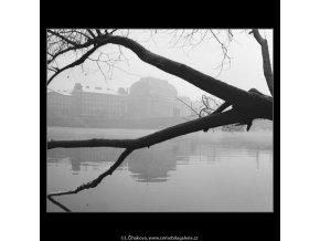 Pohled k Národnímu divadlu (2613-3), Praha 1963 prosinec, černobílý obraz, stará fotografie, prodej
