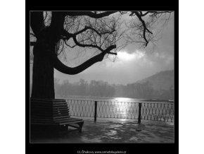 Na Novotného lávce (2674-2), žánry - Praha 1964 únor, černobílý obraz, stará fotografie, prodej