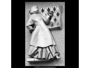Novodobá domovní znamení (2753-1), Praha 1964 březen, černobílý obraz, stará fotografie, prodej