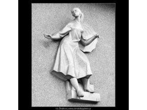 Novodobá domovní znamení (2753-2), Praha 1964 březen, černobílý obraz, stará fotografie, prodej