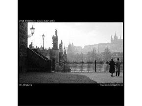 Boční část mostu (2818-4), Praha 1964 duben, černobílý obraz, stará fotografie, prodej