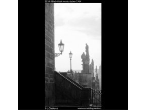 Boční část mostu (2818-5), Praha 1964 duben, černobílý obraz, stará fotografie, prodej