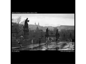 Most po dešti (2833-6), Praha 1964 duben, černobílý obraz, stará fotografie, prodej