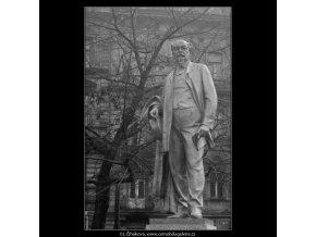 Pomník Jakuba Arbesa (2855-2), Praha 1964 , černobílý obraz, stará fotografie, prodej