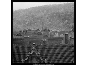 Malostranské střechy (2878-1), Praha 1964 červen, černobílý obraz, stará fotografie, prodej