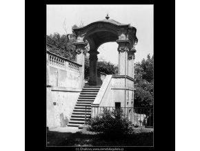 Barokní pavilónek (165-1), Praha 1959 červen, černobílý obraz, stará fotografie, prodej