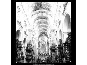 Chrám sv.Jakuba (2922-1), Praha 1964 květen, černobílý obraz, stará fotografie, prodej
