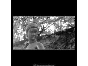 Dívka se džbánem (2951-1), Praha 1964 červen, černobílý obraz, stará fotografie, prodej