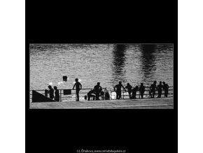 Plovárna (3028), žánry - Praha 1964 červen, černobílý obraz, stará fotografie, prodej
