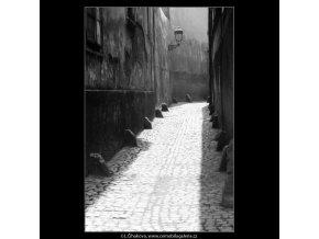 Stříbrná ulička (3034), Praha 1964 červenec, černobílý obraz, stará fotografie, prodej
