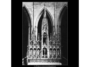 Oltář chrámu sv.Víta (3081), Praha 1964 červenec, černobílý obraz, stará fotografie, prodej