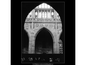 Královská oratoř v chrámu sv.Víta (3019-1), Praha 1964 červenec, černobílý obraz, stará fotografie, prodej