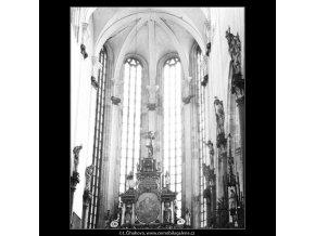 Interiér Týnského chrámu (3080-2), Praha 1964 červenec, černobílý obraz, stará fotografie, prodej