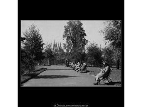 Letenské sady (3215), Praha 1964 září, černobílý obraz, stará fotografie, prodej