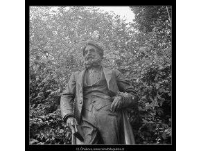 Pomník Jana Narudy (3255), Praha 1964 září, černobílý obraz, stará fotografie, prodej