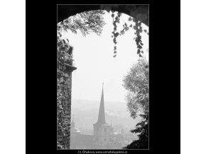 Věž (3267-3), Praha 1964 říjen, černobílý obraz, stará fotografie, prodej