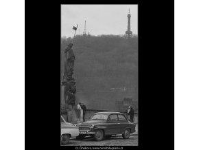 Hradní rampa (3336-2), Praha 1964 listopad, černobílý obraz, stará fotografie, prodej