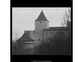Daliborka a Černá věž (3337-1), Praha 1964 listopad, černobílý obraz, stará fotografie, prodej