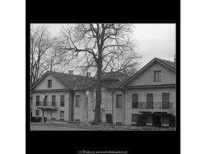 Část prezidentské vily (3344), Praha 1964 listopad, černobílý obraz, stará fotografie, prodej