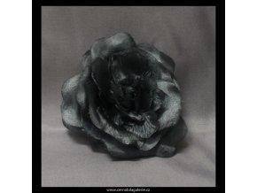 Gumička s růží šedá