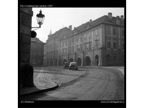 Valdštejnské náměstí (742-1), Praha 1959 , černobílý obraz, stará fotografie, prodej