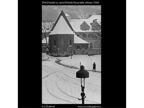 Kostel sv.Jana Křtitele Na prádle (3543), Praha 1965 březen, černobílý obraz, stará fotografie, prodej