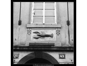 U Zeleného raka (3620-2), Praha 1965 duben, černobílý obraz, stará fotografie, prodej