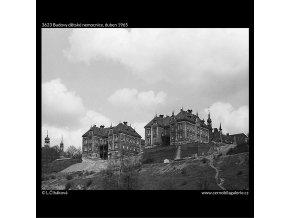 Budovy dětské nemocnice (3623), Praha 1965 duben, černobílý obraz, stará fotografie, prodej
