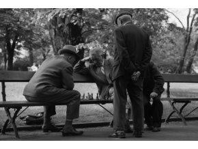 Plakát - Penzisté na lavičce, hrající šachy (2209)