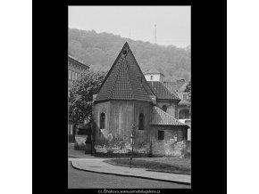 Kostel sv.Jana na prádle (3670), Praha 1965 květen, černobílý obraz, stará fotografie, prodej