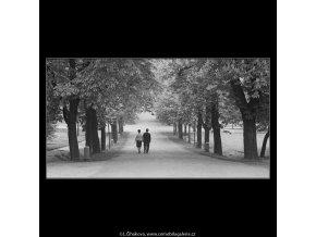 Dvojice na cestě (3673), žánry - Praha 1965 květen, černobílý obraz, stará fotografie, prodej