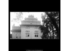 Část budovy Voj.historického muzea (3717), Praha 1965 květen, černobílý obraz, stará fotografie, prodej