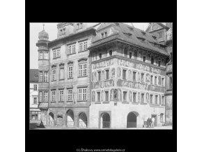 Domy na Staroměstském náměstí (3723-1), Praha 1965 květen, černobílý obraz, stará fotografie, prodej