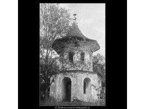 Čínský pavilon (3738), Praha 1965 květen, černobílý obraz, stará fotografie, prodej
