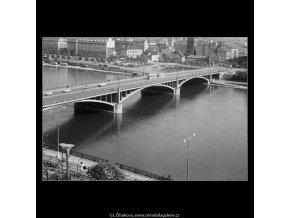 Švermův most (3766-1), Praha 1965 červen, černobílý obraz, stará fotografie, prodej