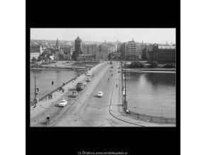 Švermův most (3766-3), Praha 1965 červen, černobílý obraz, stará fotografie, prodej