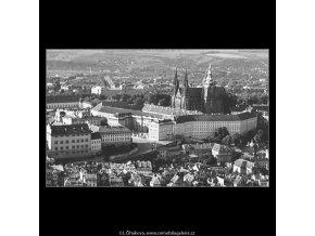 Pražský hrad (3781-1), Praha 1965 červen, černobílý obraz, stará fotografie, prodej