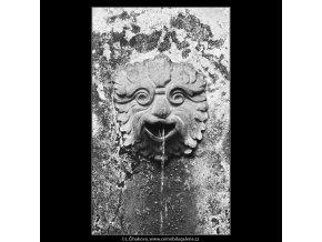 Chrlič vody (3794), Praha 1965 červen, černobílý obraz, stará fotografie, prodej