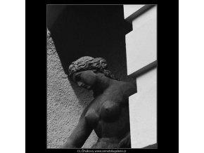 Vltava (3796-1), Praha 1965 červen, černobílý obraz, stará fotografie, prodej